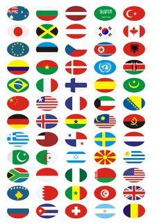 Free National Flags Collection Royalty Free Stock Images - 5064779