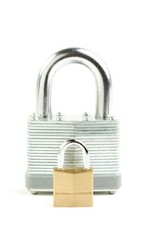 Free Pair Of Padlocks Stock Photography - 5064822