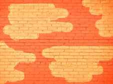 Free Brickwork With Yellow Spots Stock Photos - 5064913