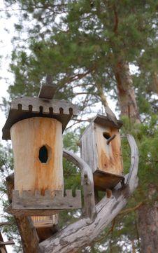 Free Two Birdhouses Stock Photos - 5064943