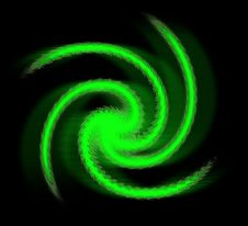 Green Spiral Royalty Free Stock Image