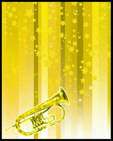 Free Party Flayer Trumpet Stock Photography - 5065992
