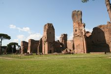 Caracalla´s Baths Royalty Free Stock Image