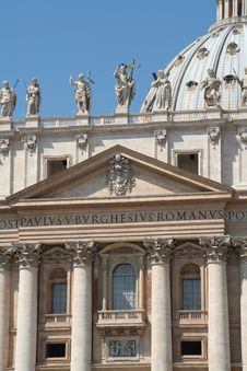 Free Vatican City Façade Royalty Free Stock Photos - 5066428