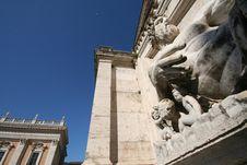 Piazza Del Campidoglio Statue Royalty Free Stock Images