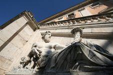 Piazza Del Campidoglio Statue Stock Image