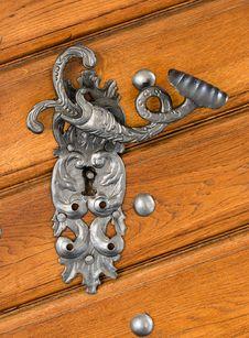 Free Antique Door Handle Stock Photography - 5067122