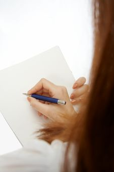 Signing The Document Stock Photography