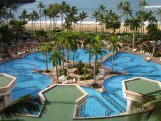 Pool In Kauai Stock Photos