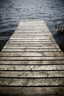 Wooden Pier. Royalty Free Stock Photo