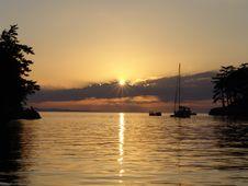Patos Island Sunset Stock Photography