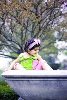Free Girl In Flower Garden8 Stock Images - 5067734