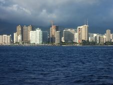 Free Honolulu From Sea Stock Photography - 5069012