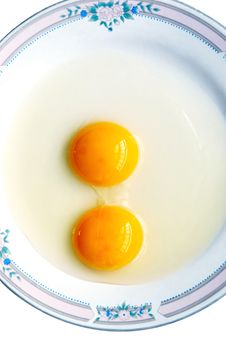 Free Double-yolk Egg Royalty Free Stock Photo - 5069525
