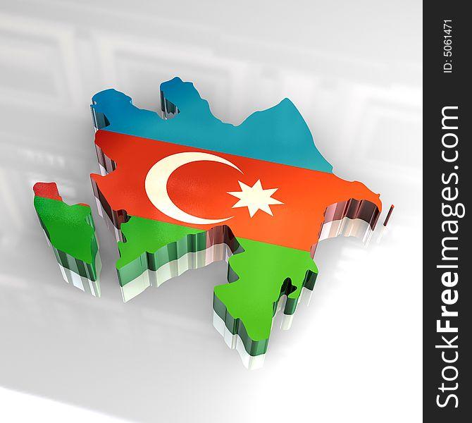 3d Flag Map Of Azerbaijan Free Stock Images Photos 5061471 Stockfreeimages Com