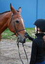 Free Young Lady And Her Horse Stock Images - 5074804