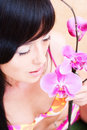 Free Asian Girl With Orchid Royalty Free Stock Photos - 5079998
