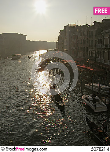 Free Venice: Canal Grande Stock Images - 5078214