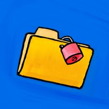 Free Painting Folder Lock Stock Photo - 5070470