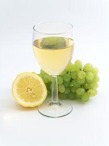 Wine, Lemon And Grape Royalty Free Stock Image