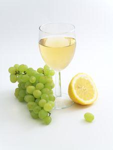 Wine, Lemon And Grape Stock Image