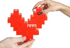 Free Hands Building Heart Royalty Free Stock Photography - 5071337