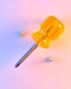 Free Screwdriver And Screws Percentage Stock Image - 5071471