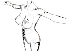Transparent Woman Nude Body Royalty Free Stock Photo