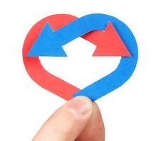 Free Color Arrow Heart Stock Photos - 5071863