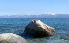 Free Lake Tahoe Rocks Royalty Free Stock Photo - 5071925