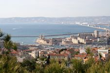 Free View On The Old Harbour In Marseille Stock Image - 5072101