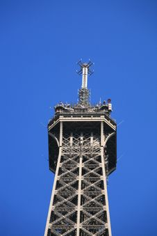 Free Detail Top Of Eiffel Tower Of Paris Royalty Free Stock Image - 5072266