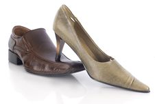 Male Shoe And Female Shoe Stock Photography