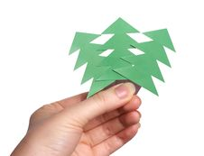 Free Hand Holding Christmas Trees Royalty Free Stock Image - 5072566