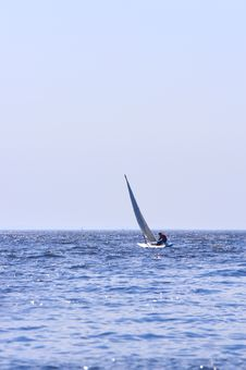 Free Sailing Boat On The Sea Royalty Free Stock Photos - 5072778