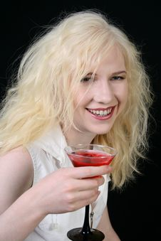 Free Girl With Martini Stock Photo - 5073510