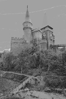 Free Corvinesti Castle Royalty Free Stock Image - 5073896