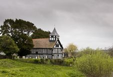 Free Melverley Church On Stormy Day Stock Images - 5074044
