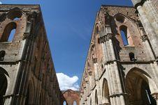 Free San Galgano Abbey / Detail Royalty Free Stock Photography - 5074217