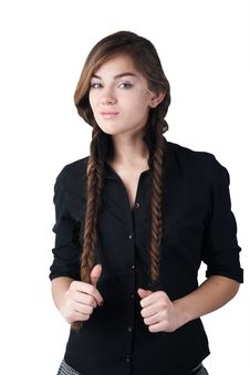 Free Girl With Plaits Stock Photography - 5075732
