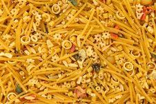 Mixed Noodles Background Stock Photos