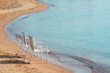 Free Two Beach Chairs Stock Photography - 5076142