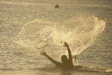 Free Sunset Fishing Stock Photo - 5076460
