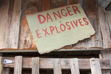 Free Danger, Explosives Stock Photo - 5077120