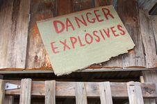 Danger, Explosives Stock Photo