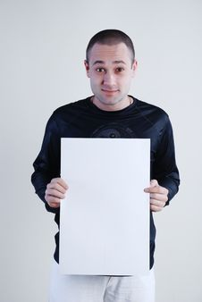 Free Man With Placard Royalty Free Stock Photo - 5077625