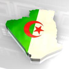 Free 3d Flag Map Of Algeria Royalty Free Stock Photo - 5078545