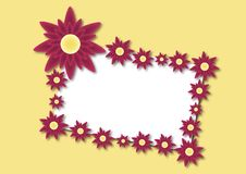 Free Red Flower Card 2 Royalty Free Stock Photos - 5079308