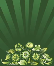 Free Green Floral Background Royalty Free Stock Photos - 5079398
