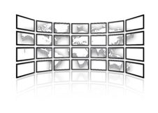 World Map In 3D Royalty Free Stock Photos